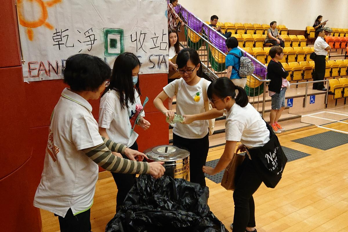 Waste Audit in progress by Green Ambassadors
