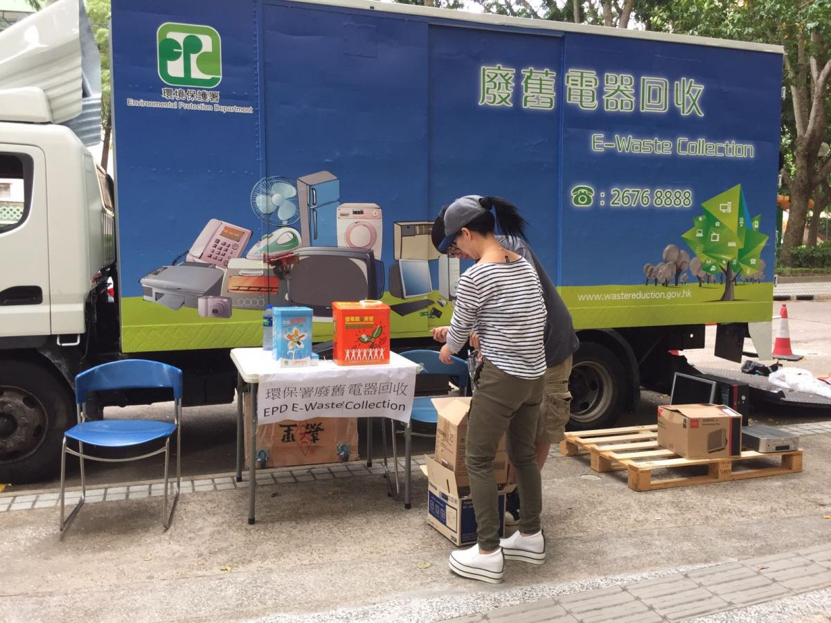District-based E waste collection service, e-waste collection vehicle