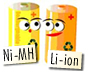 Select NiMH or Li-ion Batteries