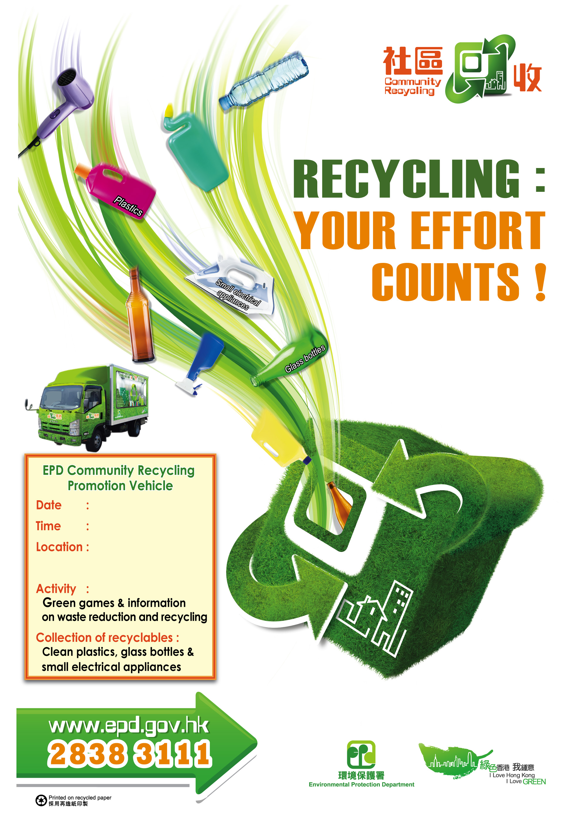 Promotional materials waste reduction website for Waste material items